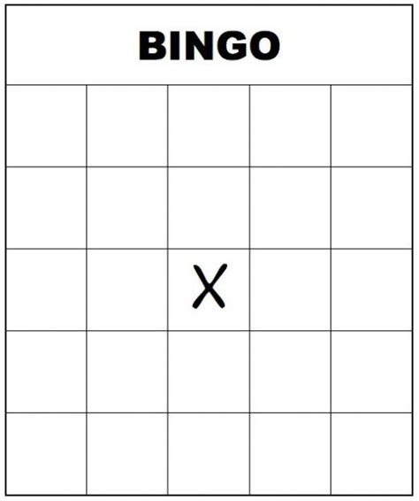 Printable Bingo Card Template by 7 Best Images Of Large Printable Blank Bingo Card Free