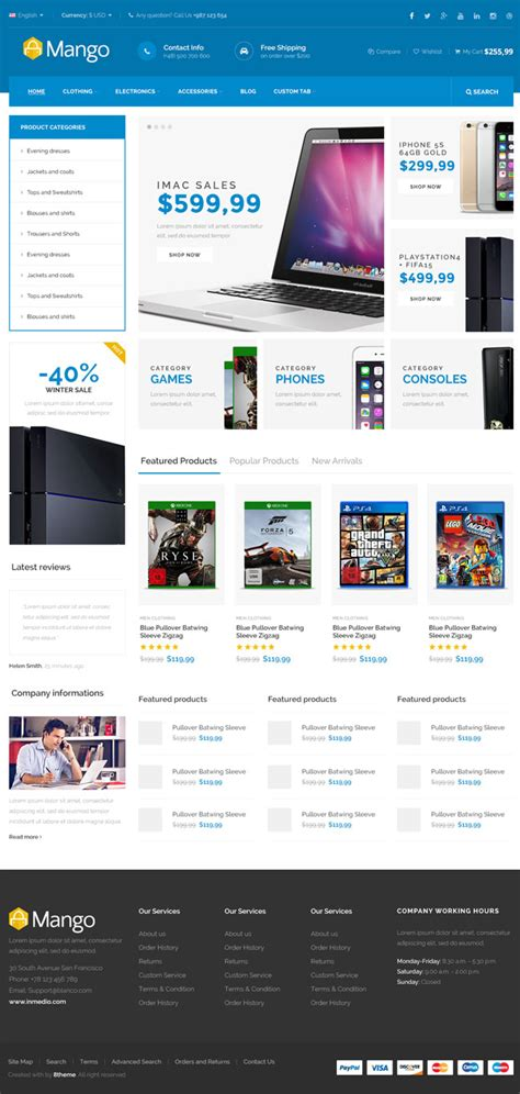 30 Best Ecommerce Responsive Html Templates 2016 Html5 Ecommerce Template