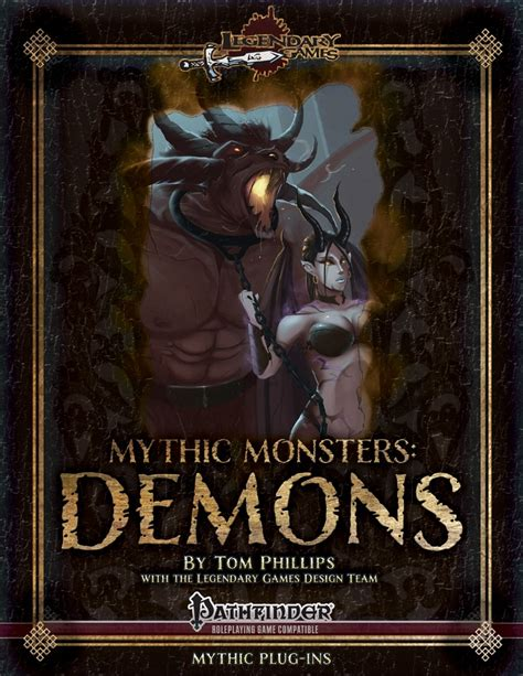 the company of demons books paizo mythic monsters 1 demons pfrpg pdf