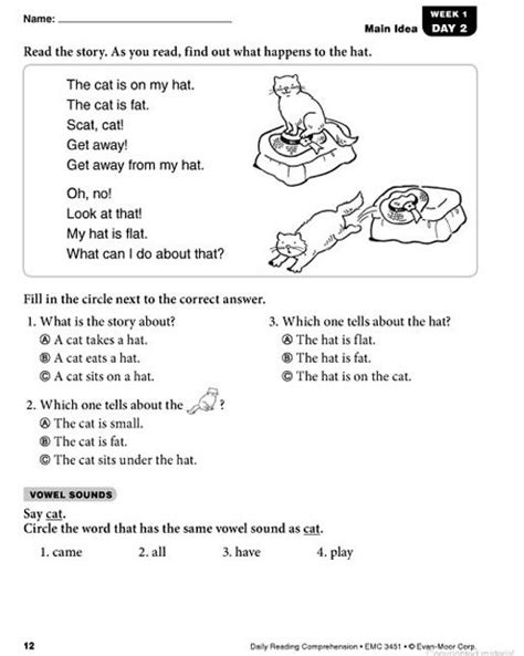 Daily Reading Comprehension Grade 1 Home Schooling