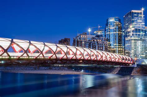Flag Lights by Calatrava S Peace Bridge In Calgary Another Angle