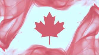 canada background canadian flag formed with smoke on white background