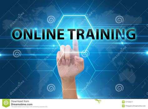 tutorial online business business hand pushing key performance indicator or kpi