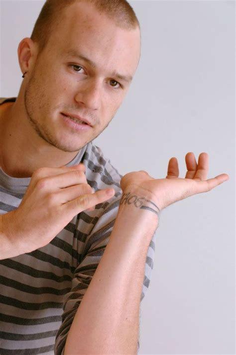 heath ledger wrist tattoo best 25 heath ledger ideas on