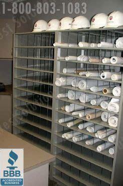 rolled blueprint storage shelving flat file cabinets