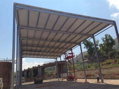 tettoia metallica olii tomasello srl realizzazione di una tettoia metallica