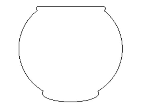fish bowl template printable free free fish patterns for crafts stencils and more