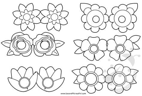 fiori da ritagliare e colorare maschere per bambini con fiori da colorare lavoretti