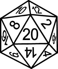 dungeons and dragons d20 laptop car decal sticker by