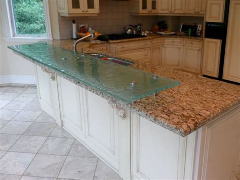 granite kitchen islands with breakfast bar raised glass bar tops raised glass counter top was added to these existing granite counter