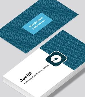 uber referral card template uber business cards printed by printelf free templates
