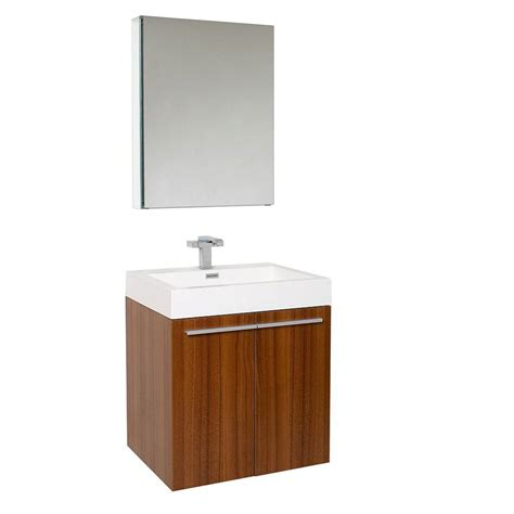 fresca 32 in vanity in chestnut with acrylic