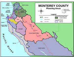 california map monterey unincorporated communities in monterey county california
