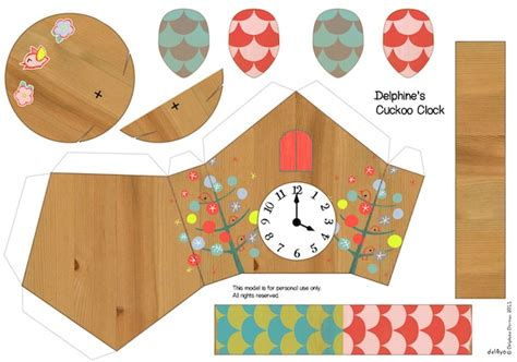 How To Make A Clock With A Paper Plate - make paper cuckoo clocks inc daily