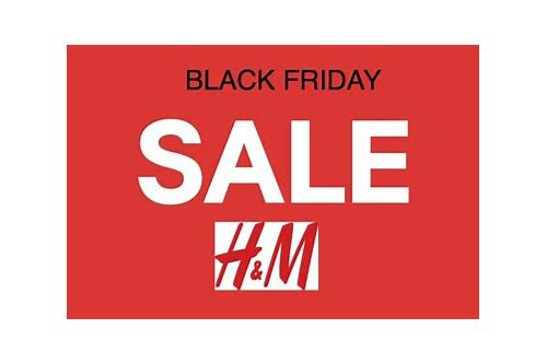 h&m deals black friday 2018