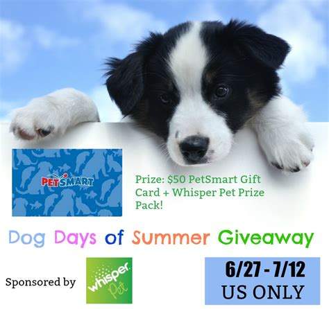Dog Giveaway - dog days of summer giveaway