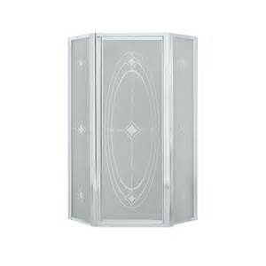 silver shower doors shop sterling framed silver shower door at lowes