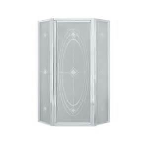 shower doors sterling shop sterling framed silver shower door at lowes