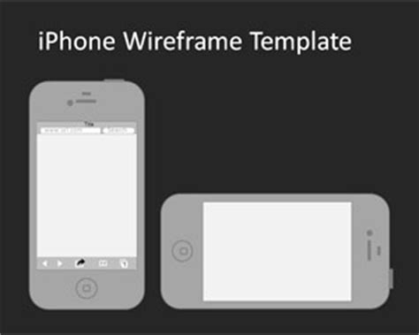 Iphone Wireframe Powerpoint Template Iphone Presentation Template