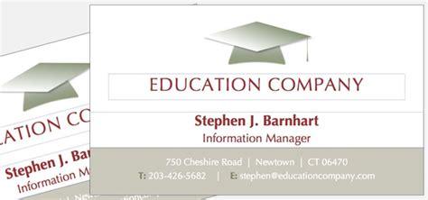 education business card templates business card education company theme istudio