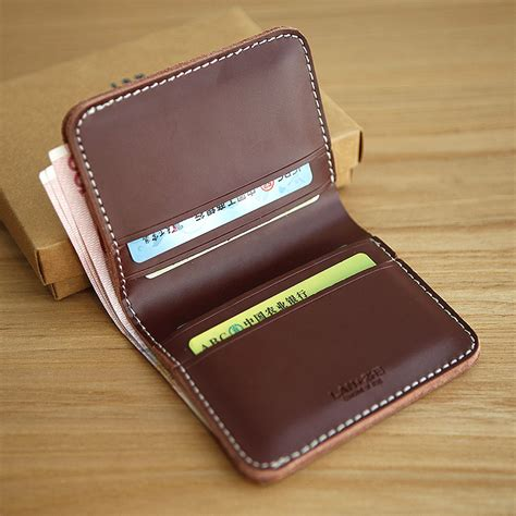 Handmade Mens Leather Wallets - lan free shipment original design handmade leather wallet