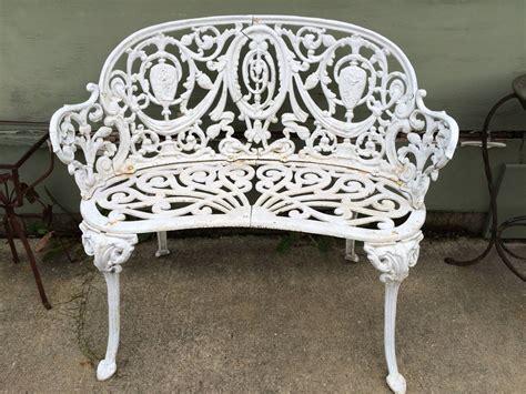 vintage cast iron garden bench  stdibs