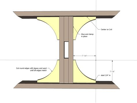 pedistal farmhouse table woodworking plans