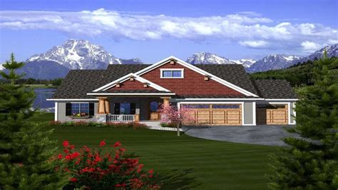 Ranch House Plans With 3 Car Garage by Craftsman Ranch House Plans With 3 Car Garage Craftsman