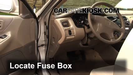 interior fuse box location   honda accord  honda accord lx   sedan  door
