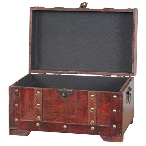 wooden trunk antique style small wooden trunk ebay