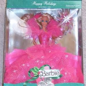 1990 happy holidays barbie holiday barbie