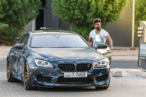 bmw m6 gran coupe blue a digital blue camouflage wrapped bmw m6 gran coupe with