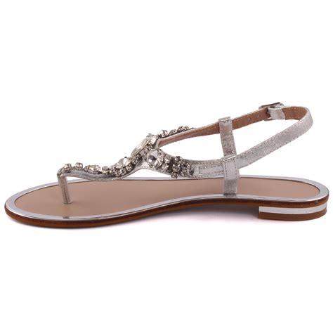 embellished flat sandals unze new coop embellished flat sandals uk size 3 8