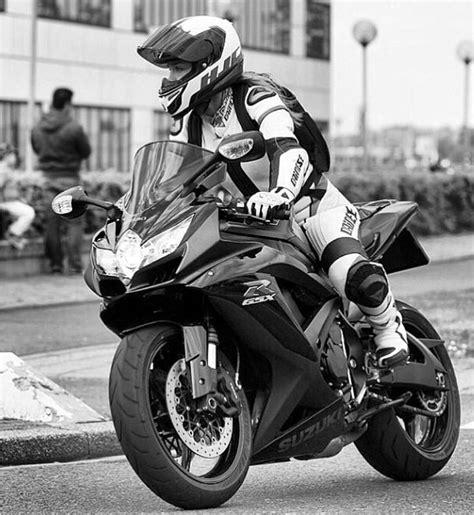 women s street motorcycle black and white shot of biker woman on street bike women