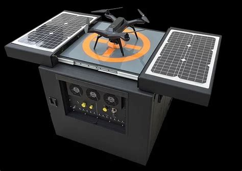 Phone Charging Stations by Dronebox Autonomous Recharging Station Lets Uavs Operate