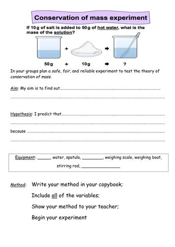 Conservation Of Mass Worksheet Answers by Solute And Solvent Worksheet Defendusinbattleblog