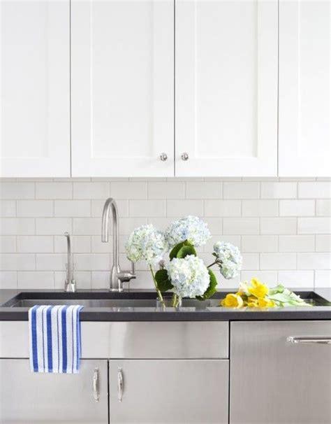 black tile backsplash white cabinets cwb architects kitchens white shaker kitchen