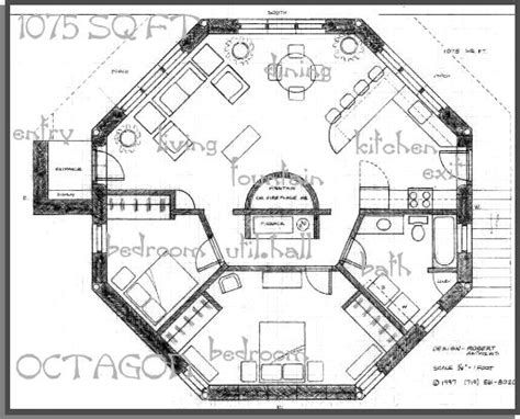 octagonal house plans a straw bale house plan 1075 sq ft