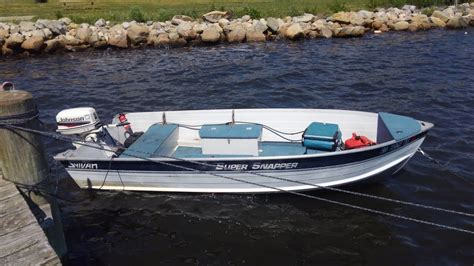 sylvan tiller boats sylvan super snapper 14 youtube