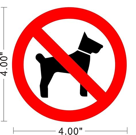 no dogs allowed sign no pets dogs allowed warning sign sticker decal a022 ebay