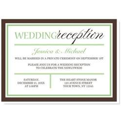 wedding reception invitations templates best 25 reception only invitations ideas on