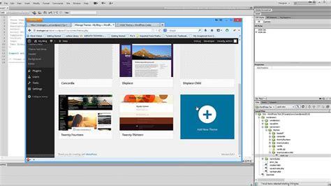 create wordpress layout using dreamweaver create a wordpress child theme using dreamweaver youtube