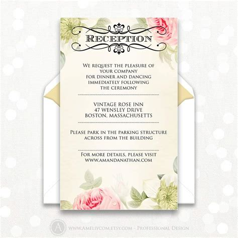 reception cards template only wedding invitation wording creative birthday