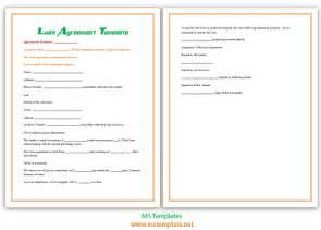 Loan Agreement Template Microsoft loan agreement template microsoft office templates