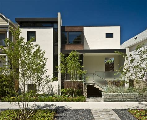 modern city house exterior contemporary exterior