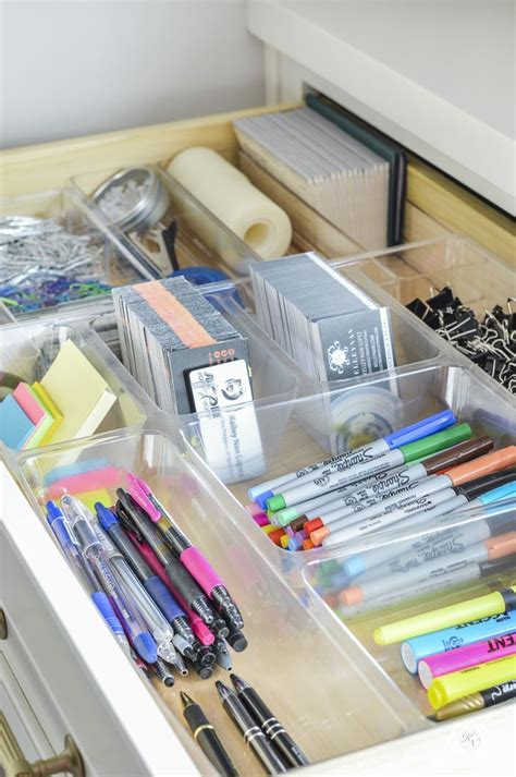 organized and functional office supply drawers kelley
