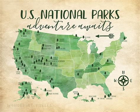 national park map usa us national parks map adventure mountains parks rivers