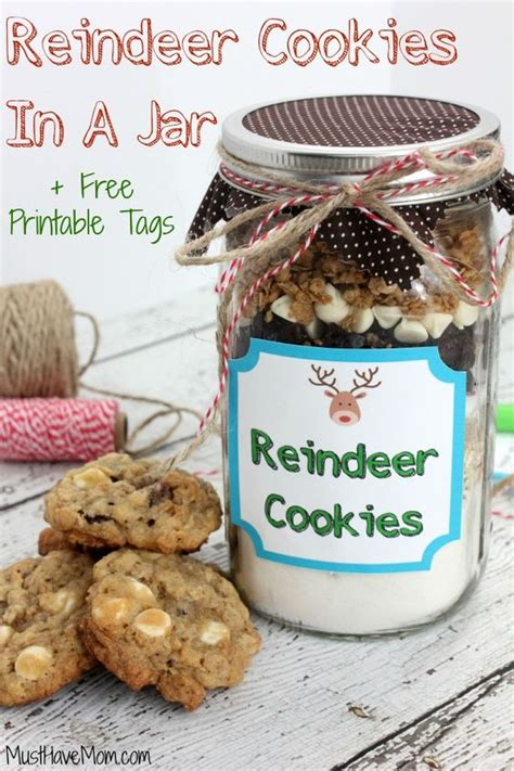 printable cookie jar recipes jars printable tags and reindeer on pinterest
