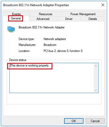 check network checking wireless or network adapter driver status easily