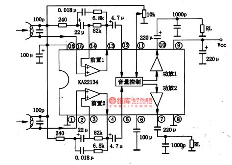integrated circuit in korean ka22134 single chip stereo player integrated circuit lifier circuits audio lifier